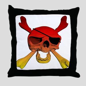 Pirate Skull Throw Pillow