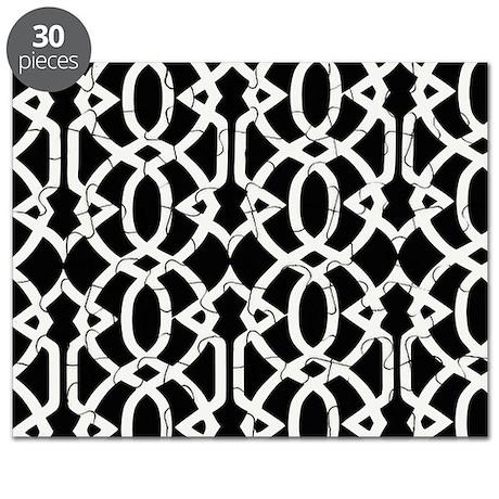 Black & White Trellis Puzzle
