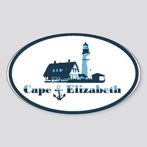 Cape Elizabeth ME - Oval Design. Sticker (Oval)