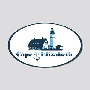 Cape Elizabeth ME - Oval Design. 20x12 Oval Wall D