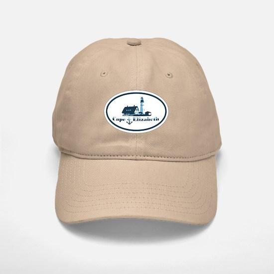 Cape Elizabeth ME - Oval Design. Baseball Baseball Cap