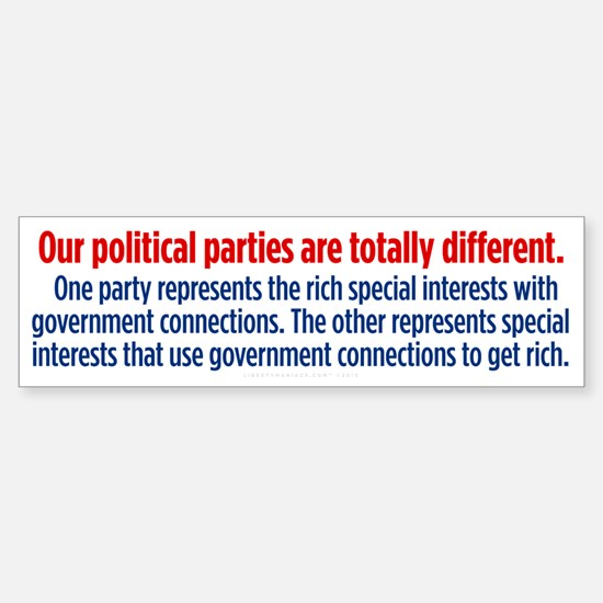 Difference Between Parties Sticker (Bumper)