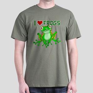 I Love (Heart) Frogs Dark T-Shirt