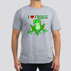 I Love (Heart) Frogs Men's Fitted T-Shirt (dark)