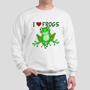 I Love (Heart) Frogs Sweatshirt