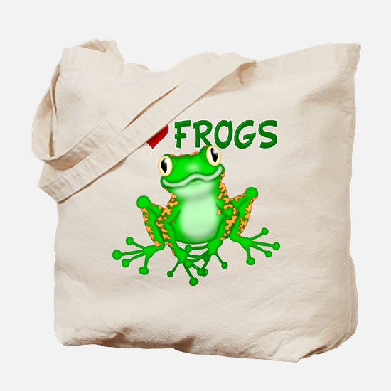 I Love (Heart) Frogs Tote Bag