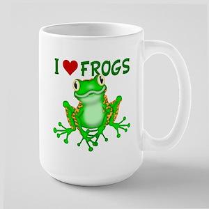 I Love (Heart) Frogs Large Mug