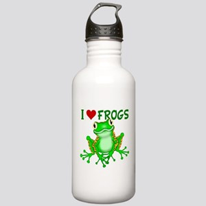 I Love (Heart) Frogs Stainless Water Bottle 1.0L