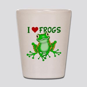 I Love (Heart) Frogs Shot Glass