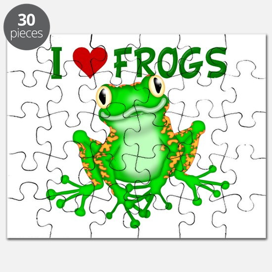 I Love (Heart) Frogs Puzzle
