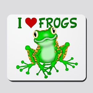 I Love (Heart) Frogs Mousepad