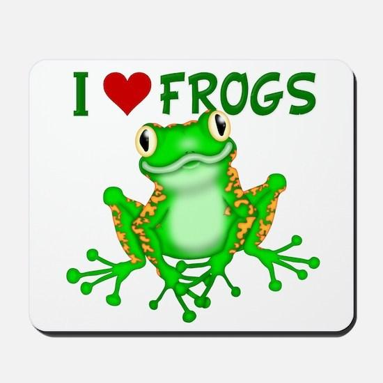 I Love (Heart) Frogs Mousepad