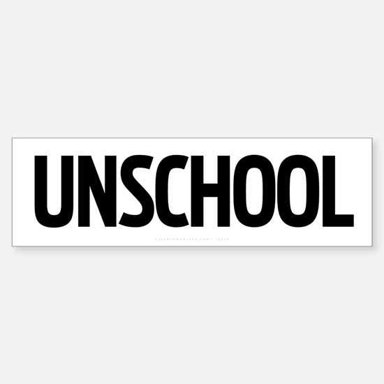 Unschool Sticker (Bumper)