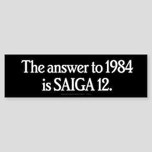 The Answer to 1984 Sticker (Bumper)