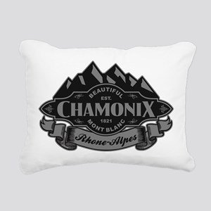 Chamonix Mountain Emblem Rectangular Canvas Pillow