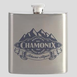 Chamonix Mountain Emblem Flask
