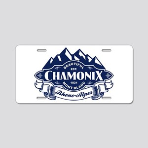 Chamonix Mountain Emblem Aluminum License Plate