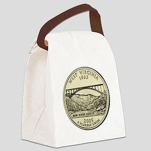 West Virginia Quarter 2005 Basic Canvas Lunch Bag