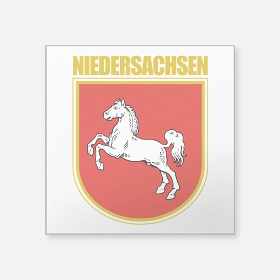"""Niedersachsen (Lower Saxony).png Square Sticker 3"""""""