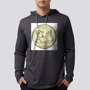 Wisconsin Quarter 2004 Basic Mens Hooded Shirt