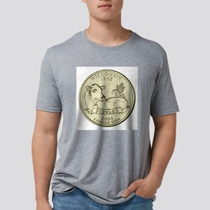 Wisconsin Quarter 2004 Basic Mens Tri-blend T-Shir