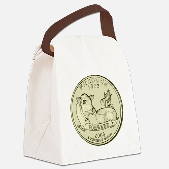 Wisconsin Quarter 2004 Basic Canvas Lunch Bag