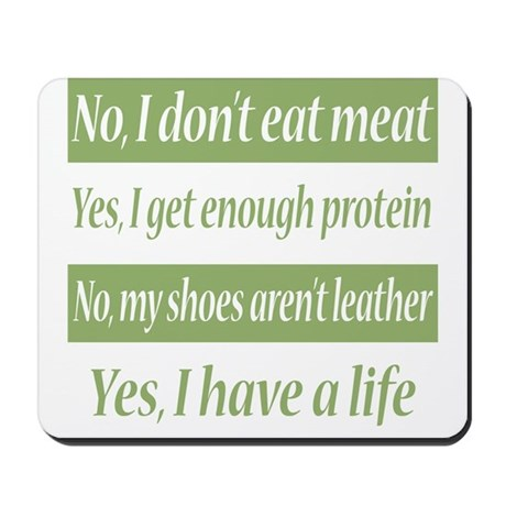 No I Dont Eat Meat Mousepad