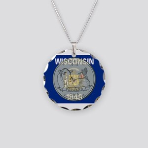 Wisconsin Quarter 2004 Necklace Circle Charm