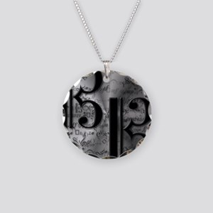 AltoClefCafePress Necklace Circle Charm