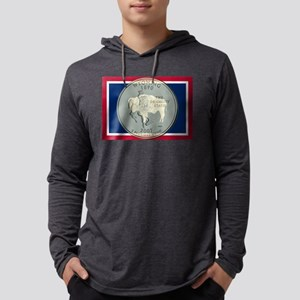Wyoming Quarter 2007 Mens Hooded Shirt