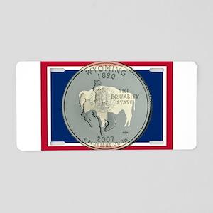 Wyoming Quarter 2007 Aluminum License Plate