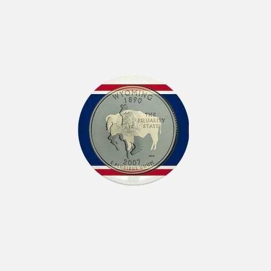 Wyoming Quarter 2007 Mini Button (10 pack)