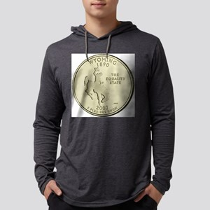 Wyoming Quarter 2007 Basic Mens Hooded Shirt