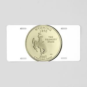 Wyoming Quarter 2007 Basic Aluminum License Plate
