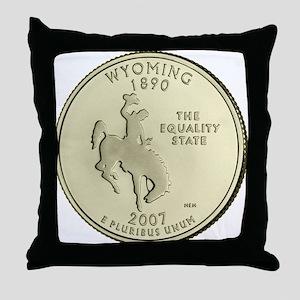 Wyoming Quarter 2007 Basic Throw Pillow