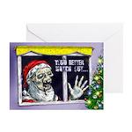 Zombie Santa Christmas cards (Pk of 10)