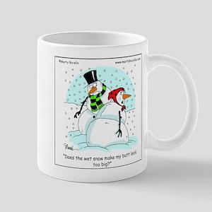 Snow woman's butt too big? Mug