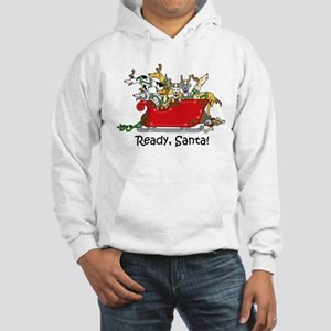"""Ready, Santa!"" Hooded Sweatshirt"