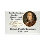 Ben Franklin - Fart Proudly Rectangle Magnet