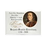 Ben Franklin - Fart Proudly Rectangle Magnet (10 p