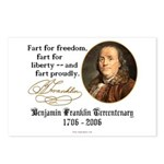 Ben Franklin - Fart Proudly Postcards (Package of