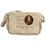 Ben Franklin - Fart Proudly Messenger Bag