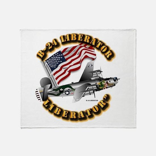 Aircraft B-24 Liberator Throw Blanket