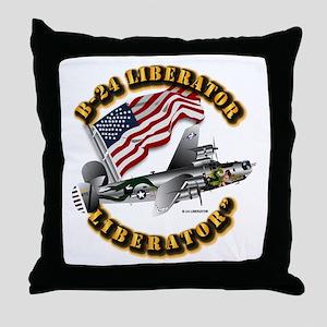 Aircraft B-24 Liberator Throw Pillow