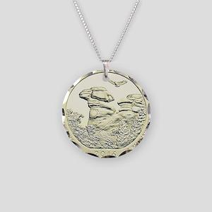 Illinois Quarter Basic 2016 Necklace Circle Charm