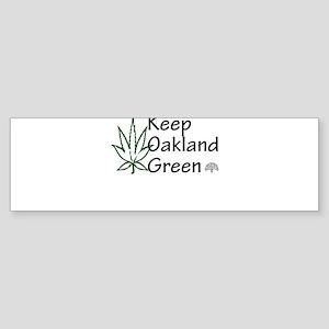 Keep Oakland Green Sticker (Bumper)