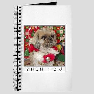 Shih Tzu Dog Pop Art Christmas Sandy Journal
