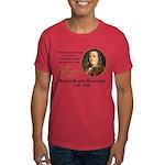 Ben Franklin on Blockheads Dark T-Shirt