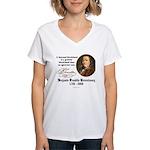 Ben Franklin on Blockheads Women's V-Neck T-Shirt
