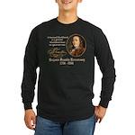 Ben Franklin on Blockheads Long Sleeve Dark T-Shir
